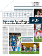 La Provincia Di Cremona 04-04-2019 - Cremonese
