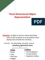 Three Dimensional Object Representation