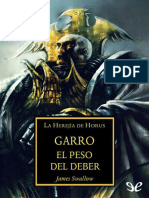 [Warhammer 40000] [Herejia de Horus 21.3] Swallow, James - Garro. La carga del deber [13054] (r1.0).epub