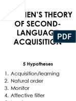 Krashens Theory of Second Language Acquisition