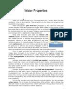 water properties lab report