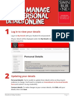 How to Manage Personal Details