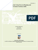 Integrating the Urban Poor in Planning and Governance Systems, India