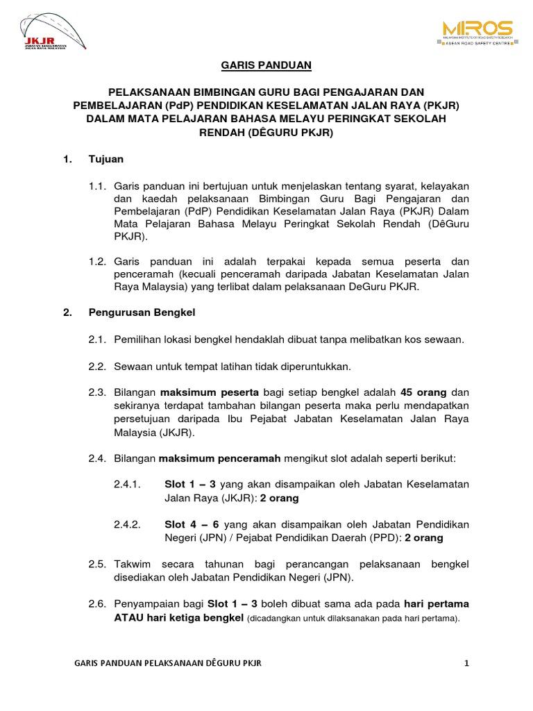 Garis Panduan Pelaksanaan Deguru Revised Version