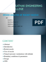 Design and numerical analysis of rocket nozzle