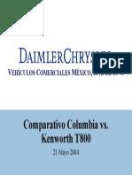 Comparativo Columbia Cl120 vs Kenworth t800