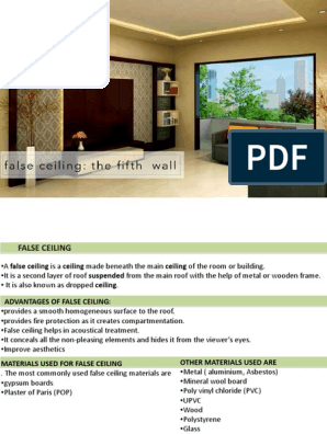 False Ceiling Pdf Drywall Ceiling