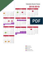 Calendario Escolar Portrait Vinaròs 2018