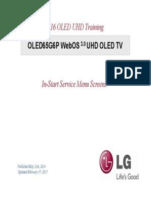 OLED65G6P+WebOS+3 0+UHD+OLED+TV+In-Start+Service+Menu+Screens
