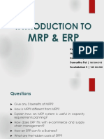 Intro MRP ERP