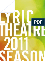 Lyric Theatre 2011 Season Brochure