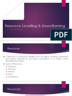 Resource Levelling & Smoothening