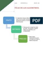 CARACTERISTÍCAS DE LOS ALGORITMOS