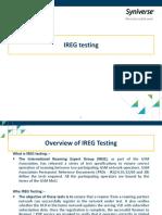 Basics of IREG Testing