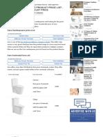 Cera Sanitaryware Product Price List - 2018 August Price