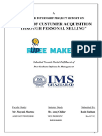 STUDY OF CUSTUMER ACQUISITION THROUGH PERSONAL SELLING