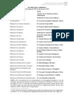 Lista ministros