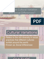 Cultural Variations and Social Defferences