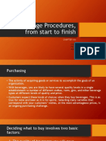 Beverage Procedures From Start to Finish 1