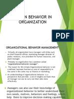 Human Behavior in Organization 1