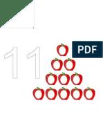 Playdough Number Mats 11-20