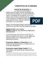 DIVERSOS CONCEPTOS DE ECONOMIA