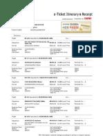 E-Ticket Itinerary & Receipt