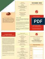 Vicharavedi Brochure Nov 2010