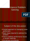 Performance Problem Solving