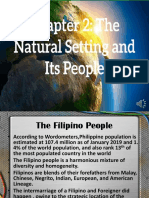The natural settings and its people.pptx