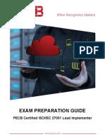 Pecb Iso 27001 Lead Implementer Exam Preparation Guide