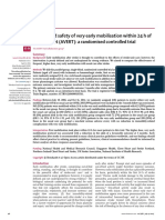 Efficacy and Safety of Very Early Mobilisation Within 24 h