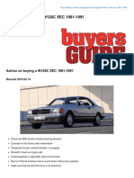 Buyers Guide W126C SEC 1981-1991