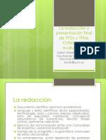 La Redacción y Presentación Final de TFGs
