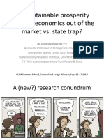 Ideas & ways forward for an economics for sustainable prosperity