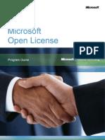 Open License Programguide[1]