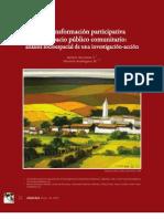 La transformación participativa del espacio público comunitario