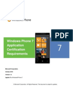 Windows Phone 7 Application Certification Requirements