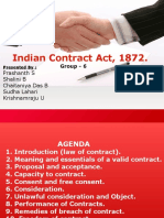 The Indian Contract Act - A Group-6 Presentation