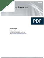 Windows Server 2008 BV White Paper