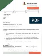 CityRun Letter From MMM - Navalhill