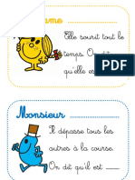 Cartes Adjectifs Monsieur Madame BDG