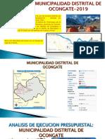 ejecución presupuestal municipalidad distrital de ocongate