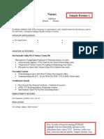 Sample Aviation Resume 1