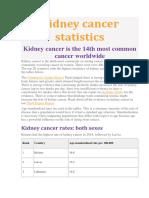 Incidenta Cancer Renal