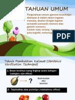 Pengetahuan Umum Teori Kognitif