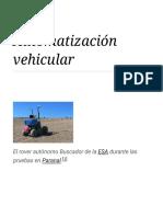 Automatización Vehicular