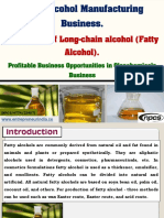 Fatty Alcohol Manufacturing Business
