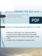Lesson 7 Spiritual Self