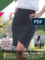 Itch to Stitch Lindy Petal Skirt PDF Sewing Pattern Instruction Listo